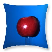 Apple Before Bullet Impact Throw Pillow