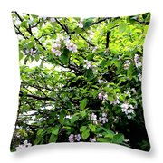 Apple Blossom Digital Painting Throw Pillow