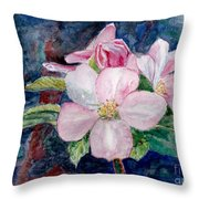 Apple Blossom - Painting Throw Pillow