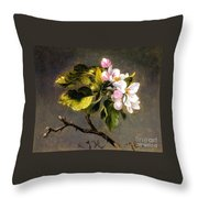 Apple Blossomss Throw Pillow