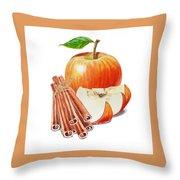 Apple Cinnamon Throw Pillow
