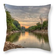 Apple Creek At Dusk Throw Pillow