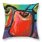Apple Dance Throw Pillow