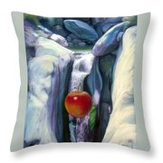Apple Falls Throw Pillow