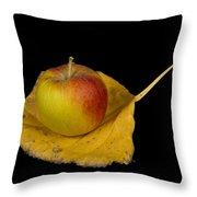 Apple Harvest Autumn Leaf Throw Pillow