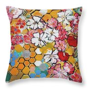 Apple Honeycomb Blossoms 201760 Throw Pillow