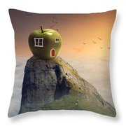 Apple House Throw Pillow