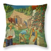 Apple Industry Throw Pillow