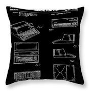 Apple Macintosh Patent 1983 Black Throw Pillow