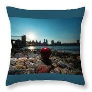Apple On The Rocks Throw Pillow