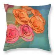 Apple Roses Throw Pillow