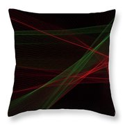 Apple Tree Computer Graphic Line Pattern Throw Pillow