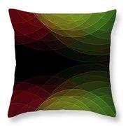 Apple Tree Semi Circle Background Horizontal Throw Pillow