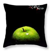 Apple Under Attack Throw Pillow