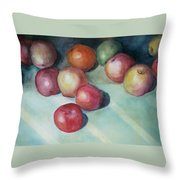 Apples And Orange Throw Pillow