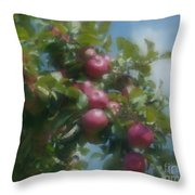 Apples And Sky Throw Pillow