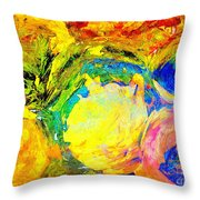 Apples And Sunshine Throw Pillow