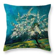 Appletree In Spring Throw Pillow