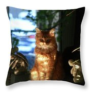 Appollo Watching Throw Pillow