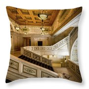Appreciating The Old Library Throw Pillow