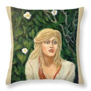 Apprehension Throw Pillow