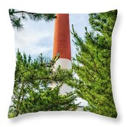Approach To Barnegat Light Throw Pillow