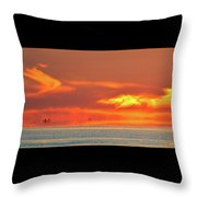 Approaching August Sunrise At Lake Simcoe 2  Throw Pillow