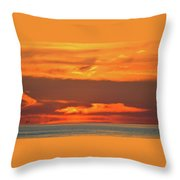 Approaching August Sunrise At Lake Simcoe  Throw Pillow