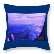 Approaching Bermuda Throw Pillow