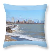 Approaching Chicago Throw Pillow