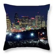 Approaching Dallas From Fort Worth Throw Pillow