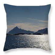 Approaching Lofoten Throw Pillow