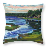 Approaching Low Throw Pillow