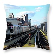 Approaching Myrtle Avenue Throw Pillow