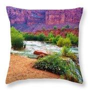 Approaching Navajo Falls Throw Pillow
