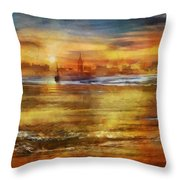 Approaching Novigrad Throw Pillow