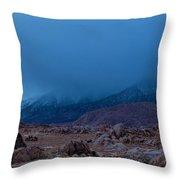 Approaching Snow Storm Throw Pillow