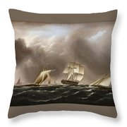 Approaching Squall Throw Pillow