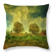 Approaching Storm At Antietam Throw Pillow by Lois Bryan