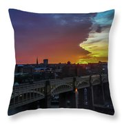 Approaching Storm At Sunset Throw Pillow