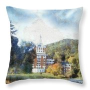 Approaching The Homestead Throw Pillow