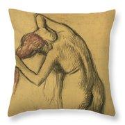 Apres Le Bain Femme S'essuyant Throw Pillow