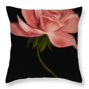 Apricot Beauty Rose Throw Pillow