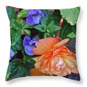 Apricot Begonia 1 Throw Pillow