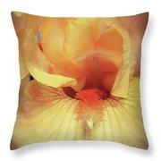 Apricot Iris Throw Pillow