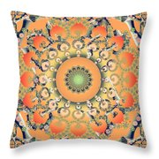 Apricot Shoe Dance Throw Pillow