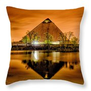 April 2015 - The Pyramid Sports Arena In Memphis Tennessee Throw Pillow