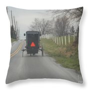 April Afternoon Buggy Ride Throw Pillow