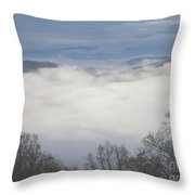April Appalachian Overlook Throw Pillow