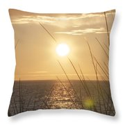 April Beach Throw Pillow